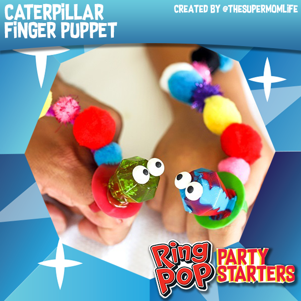 Ring Pop® Caterpillar Finger Puppet