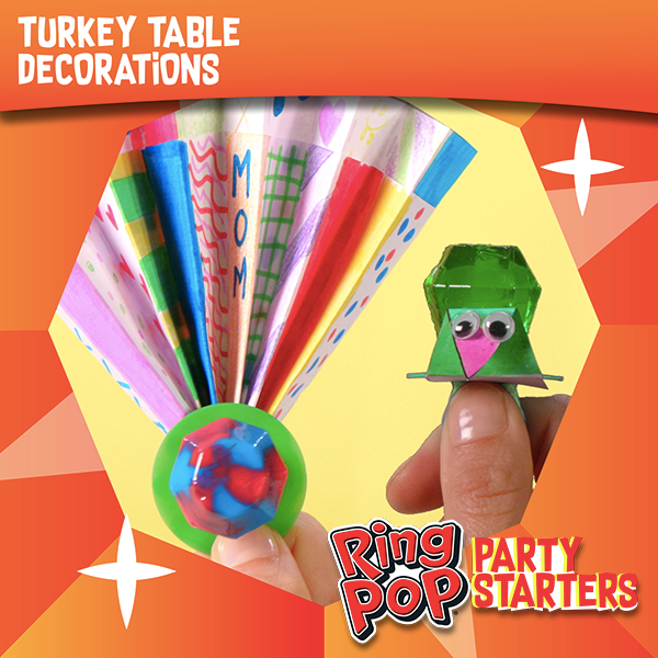 Ring Pop® Turkey Table Decorations